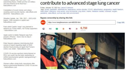 Kαρκίνο του πνεύμονα επιφέρει η πολύωρη χρήση μάσκας σύμφωνα με μελέτη…!!*